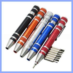 8 in 1 Aluminum Precision Multi-Tool Screw Driver Portable Screwdriver Set Pen Style Repair Tools Hand Tool pictures & photos