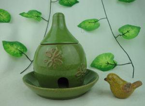 Ceramic Bird Feeder Green Color pictures & photos