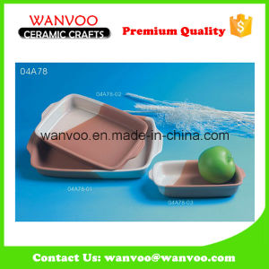 New Design Rectangular Ceramic Plate Microwave Ceramic Baking Dish Wholesale pictures & photos