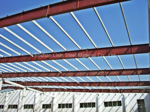 Steel Roof Frame with H Section Steel and Galvanized Purlin pictures & photos