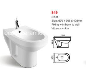 Bidet Ceramic Sanitary Ware for Women No. 849 Floor Mounted pictures & photos