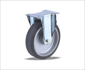 High Quality Factory Price 250mm Rubber Caster Wheels pictures & photos