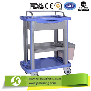 ABS Simple Medicine Delivery Trolley Ce FDA ISO Approval pictures & photos