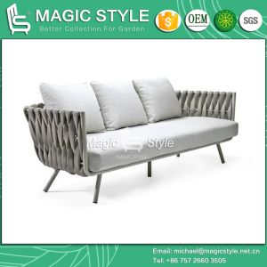Modern Sofa Set Weaving Sofa Aluminum Sofa Tape Weaving Sofa Outdoor Furniture Hotel Project pictures & photos