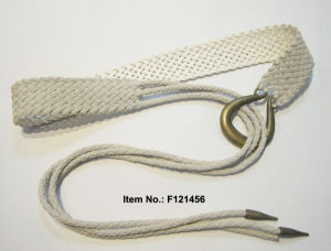 White Casual Style Weaving Belt pictures & photos
