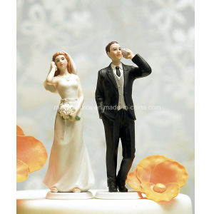 Cell Phone Fanatic Bride Wedding Cake Topper Figurine pictures & photos
