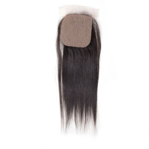 Silky Straight 14inches Top Closure Silk Top Hidden Knots pictures & photos