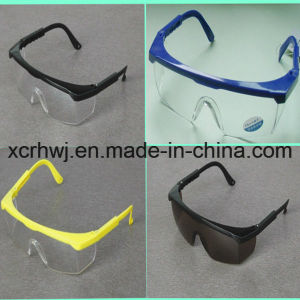 Transparent Lens with Yellow Frame Safety Goggles (HL-016) , Protective Eyewear, Eye Glasses, Ce En166 Safety Glasses, PC Lens Safety Goggles