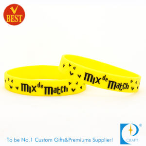Personal Design Printed Rubber Wristband in High Quality From China pictures & photos