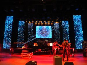 P8 indoor stage event show curtain outdoor transparent glass LED display pictures & photos