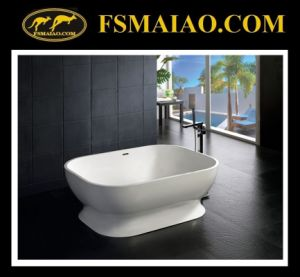 Beautiful Curve Solid Surface Bathtub Freestanding White (BS-8613) pictures & photos
