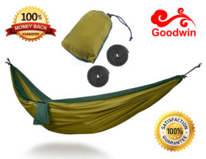 Hot-Selling Lightweight Indoor and Outdoor Nylon Parachute Hammock, Customized Hammock