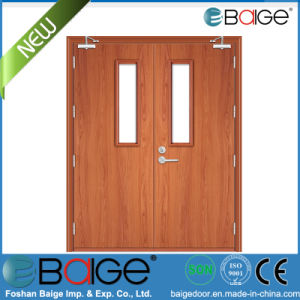 2015 New Design Wooden Fire Double Door (BG-FW9104)