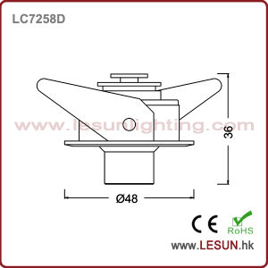 Ce and RoHS Approval 3W LED Under Cabinet Lamp Light pictures & photos