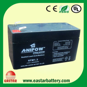 Rehchargeable AGM Battery UPS Battery 12V1.3ah Lead Acid Electrical Battery pictures & photos