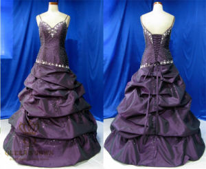 Heavy Beaded Taffeta Prom Dress Evening Dresses pictures & photos