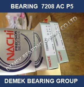 NACHI Super Precision Angular Contact Ball Bearing 7208 AC P5 pictures & photos