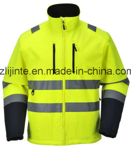 Softshell Safety Reflective Jacket with En471 pictures & photos