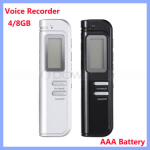 Multifunctional Portable Mini AAA Battery Powered 4GB 8GB Digital Voice Recorder pictures & photos