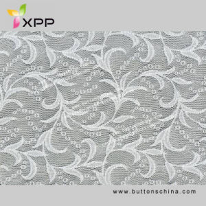White Dyable Color Elastic Swiss Fabric Lace pictures & photos