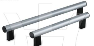 Silver Black Aluminum Tubular Handle