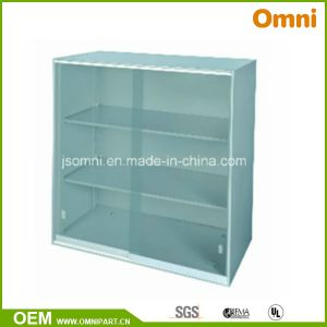 Glass Sliding Doors Office Vertical Storage Cabinet (OMNI-YY-04) pictures & photos