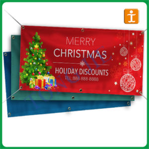 China Custom Vinyl Banners With Eyelets TJ China Vinyl - Vinyl banners with eyelets