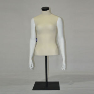 FRP Half Body Female Sport Mannequin with Metal Base pictures & photos