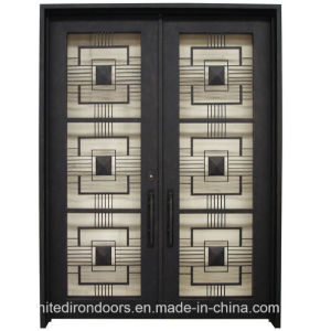 Made in China Modern Wrought Iron Front Door (UID-D073) pictures & photos