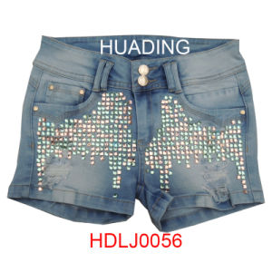 Wholesale OEM Custom Garment Denim Fashion Jeans (HDLJ0056) pictures & photos