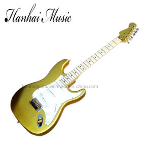 Hanhai Music / St Style Golden Electric Guitar pictures & photos