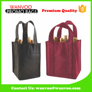 Wholesale Non Woven Drink Bag for Four Wine Bottle pictures & photos