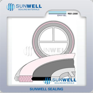 Spiral Wound Gasket for Heat Exchangers Where Pass Bars Are Required pictures & photos