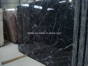 Nero Marquina Black Marble Tile and Slab in China pictures & photos