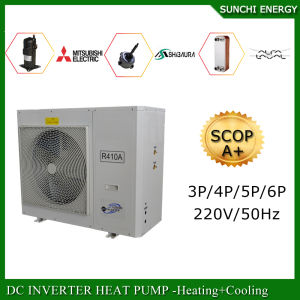 Amb. -25c Cold Winter Floor Heating 100~350sq Meter Room 12kw/19kw/35kw High Cop Condensor Split Evi Air Heat Pump Water Heater pictures & photos