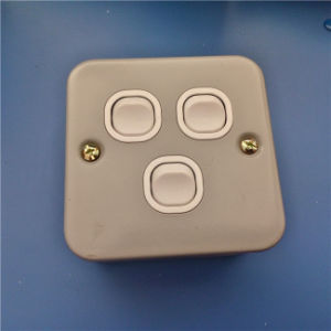 UK Style Metal Material 3 Gang Wall Switch (W-075) pictures & photos