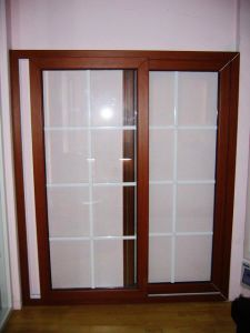 French Style Wooden Laminated PVC Casement Door