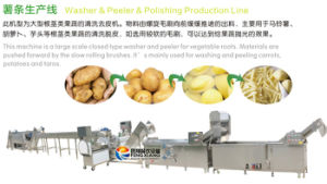 Qx-3000 French Fries Production Line, Potato Washing Peeling Cutting Blanching Cooling Drying Packaging Line pictures & photos