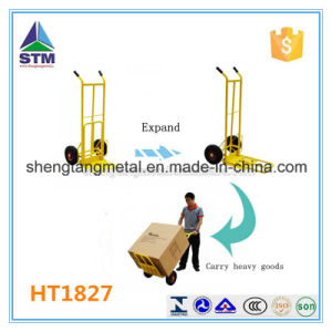 Ht1827 Folding 200kgs Capacity Hand Trolley with Foldable Plate