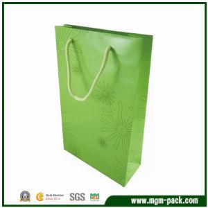 Elegant Simple Design Green Patterned Paper Gift Handbag pictures & photos