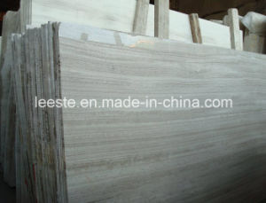 Chinese Popular White/Grey Marmara Marble Wooden Marble in Factory Price pictures & photos