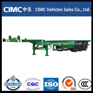 Cimc 45FT 3 Axles Goosneck Skeletal Container Trailers pictures & photos