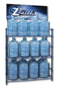 New Metal Water Bottle Display Rack with Advertising Holder pictures & photos