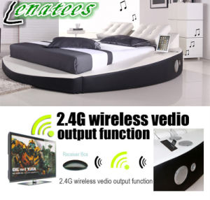 A066-1 Popular Design Round Bed Music Bed with Speaker pictures & photos