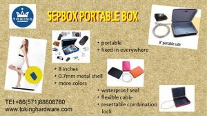 Sepox Outdoor Portable Box for Handguns, Small Items, with Customizable Combination Safe Colorful 8 Inches (C100-201) pictures & photos