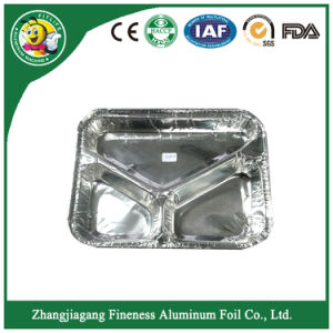 Aluminium Foil Tray with Three Parts pictures & photos