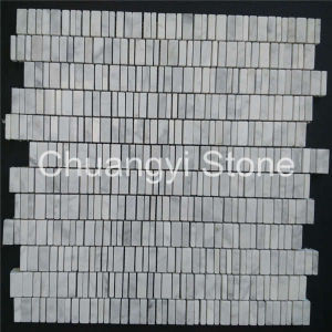 Chinese Manufactory Produce Whitemarble Mosaic Tile for Bathroom Wall/Home Decoration