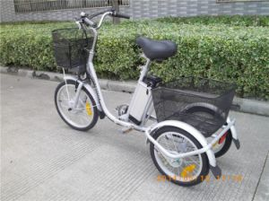 Mini Three Wheel Electric Tricycle with Lithium Battery pictures & photos