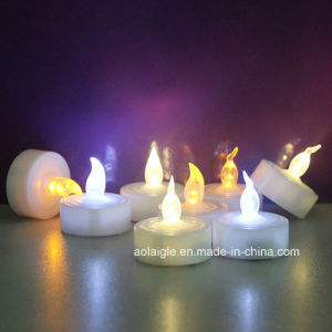 Flameless Flickering Candle LED Tealight Yellow Warmer White