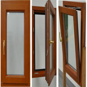 Aluminum Clad Tilt and Turn Double Glazed Window (TS-1155) pictures & photos